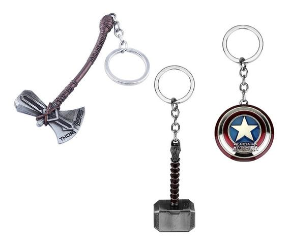 Kit Chaveiro Marvel Vingadores Thor + Capitão América