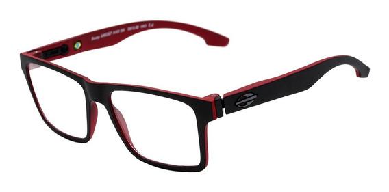 Óculos De Grau Mormaii Swap Clip On Preto & Vermelho
