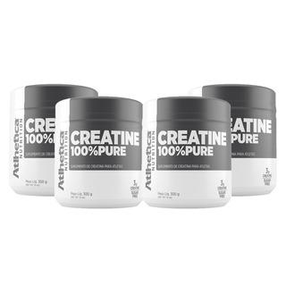 Combo C/ 4x Creatina 100% Pure 300g - Atlhetica Nutrition