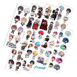 Combo De 8 Planchas De Stickers De Anime Yuri Diabolik Kurok