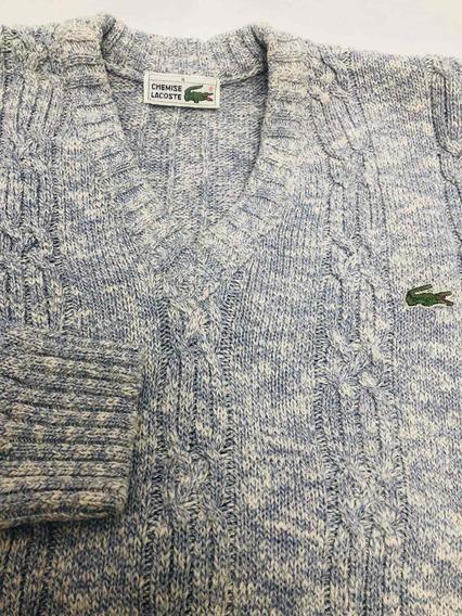 Sweater Hombre Talle 4 Chemise Lacoste Algodón Y Acrílico