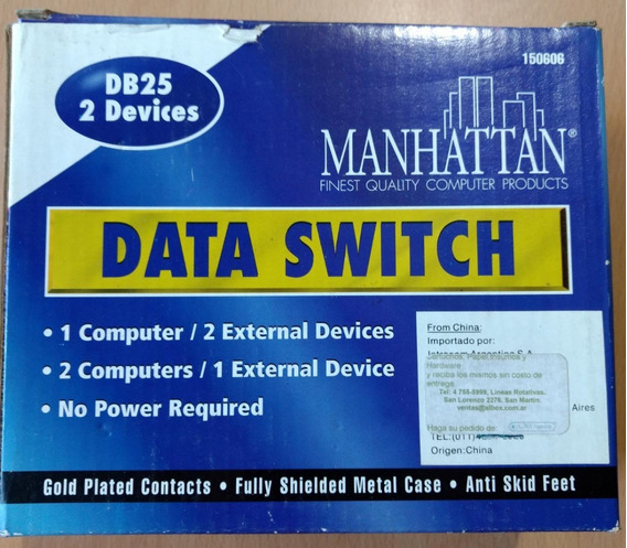Data Switch Manhattan 2 Puertos