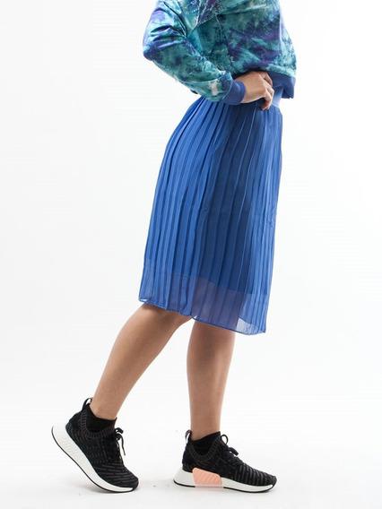 Falda adidas Originals Azul Plisada