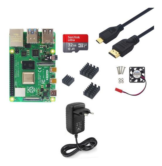 Kit Raspberry Pi 4 - 4gb Ram Combo Rasp Berry - Model B Pi4