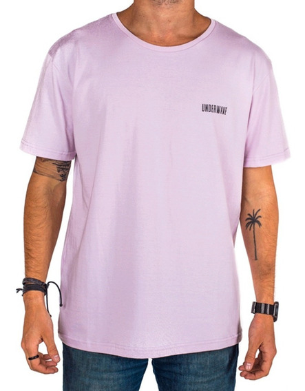 Remera Hombre Basica Simple Surf Lila - Underwave