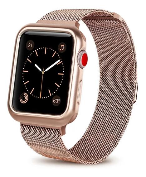 Iwatch Extensible 44mm Correa Con Case Reloj Smartwatch