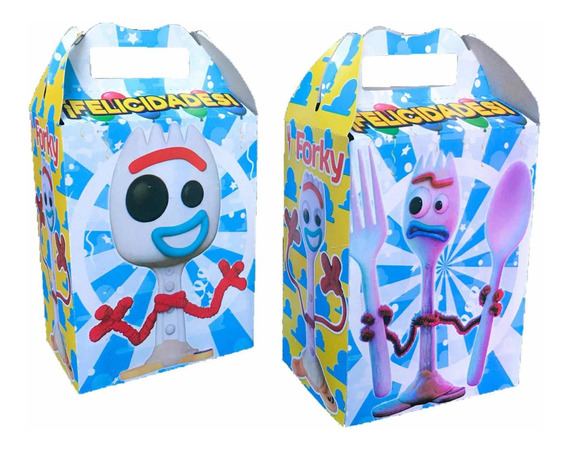 Forky Toy Story 4 Paquete Con 10 Cajas Dulceras Bolo Fiesta
