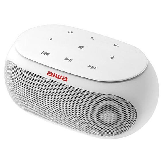 Speaker Aiwa Aw31 Bluetooth/auxiliar Bateria 2500 Mah Branco
