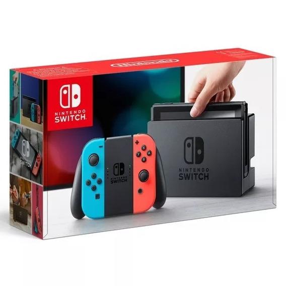 Nintendo Switch 32gb Cinza E Colorido Pronta Entrega