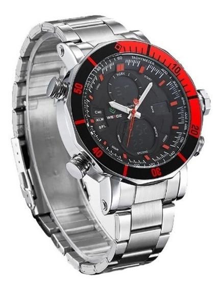 Relógio Masculino Weide Original Anadigi Wh-5203