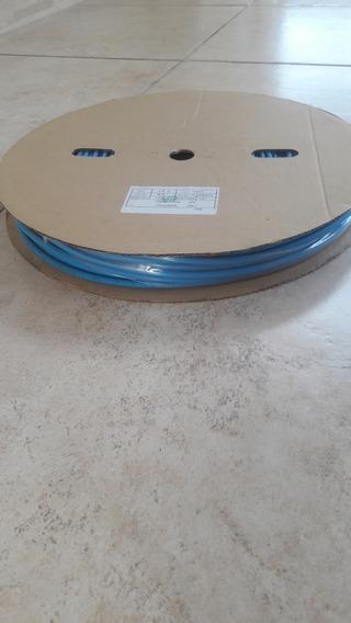 Espaguete Termo Retratil 6mm Azul 100 Metros