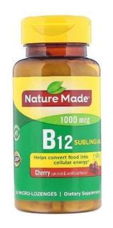 Vitamina B 12 Sublingual 1000 Mcg, 50 Pastilhas Sabor Cereja