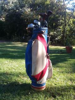 Antigua Bolsa Con Palos De Golf - Spalding + 9 Pelotitas