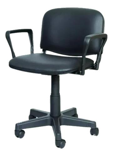 Imagen 1 de 1 de Silla de escritorio Rastasabalero sillas STD  negra con tapizado de cuero sintético