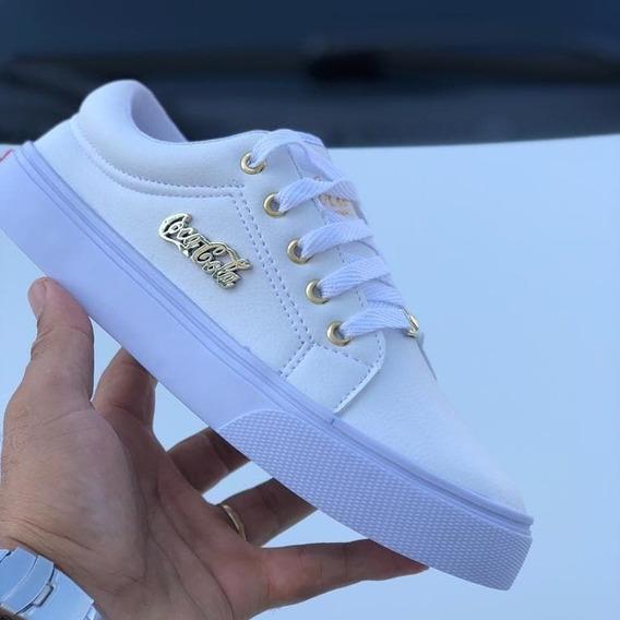 Tênis Sapatênis Feminino Branco - Calçados Femininos Branco