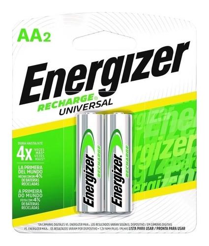 Blister 2 Pilas Recargables Doble Aa Energizer 2000mah 1.2v