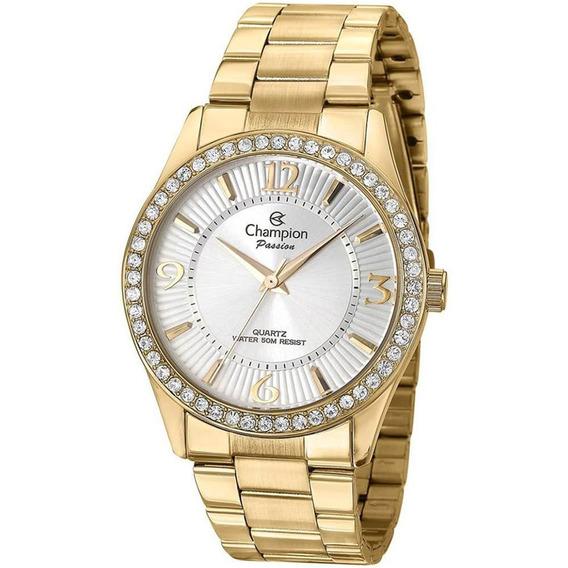 Relógio Champion Dourado Passion Feminino Cn29365h