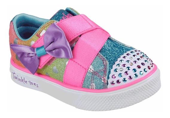 Tenis Skechers Niña 10994nmlt Con Luces Twinkle Toes