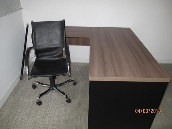 Escrivaninha Para Escritório Com 02 Cadeiras