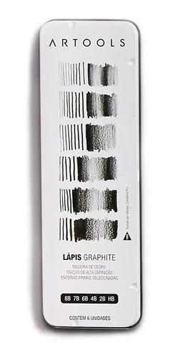 Imagem 1 de 2 de Estojo De Lápis Grafite Artools  Graphite Com 6 Graduações