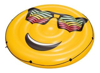 Colchoneta Emoji Inflable Para Pileta Bestway Gigante