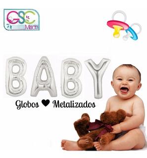 Globos Metalizado Bebe Baby Shower Recuerdo Bautizo Cotillón