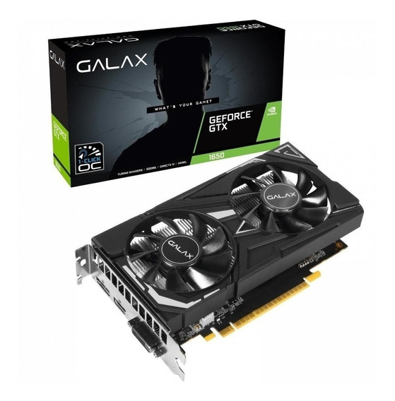 Placa de vídeo Nvidia Galax GeForce GTX 16 Series GTX 1650 65SQH8DS08EX 4GB