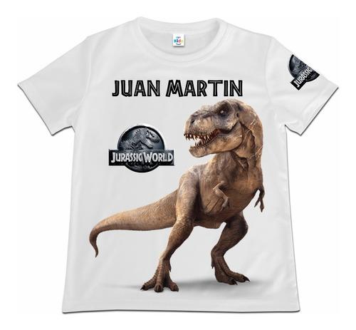 Camiseta Niño Jurassic World Dinosaurios Personalizada