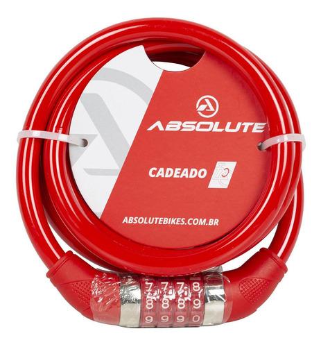 Imagem 1 de 1 de Cadeado Absolute Espiral 1,85mx12mm C Segredo Bicicleta
