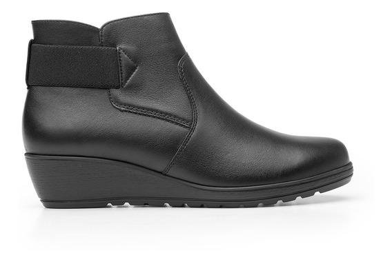 Zapatos Dama Estilo Botin Vestir Casual 35108 Negro Flexi
