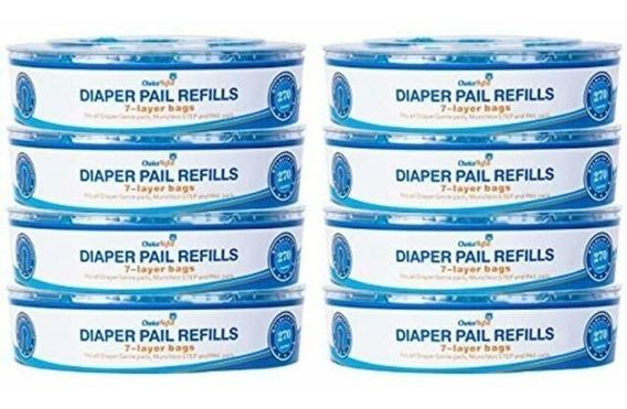 8x Refil Saco Lixo Fralda Compativel Diaper Genie 270 Fralda