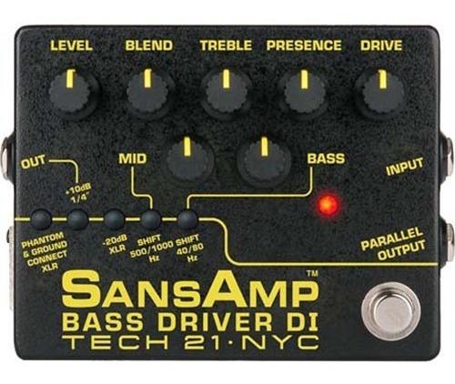 Pedal Tech 21 Sansamp Bass Driver Di Version 2