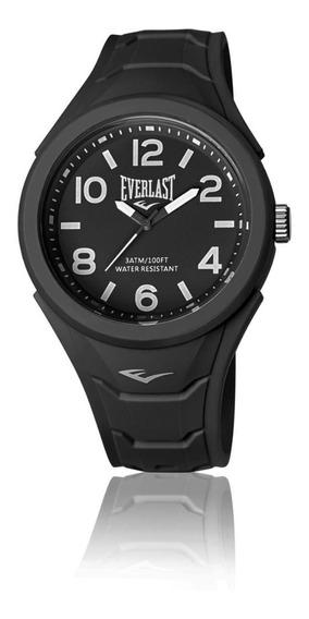 Relógio Pulso Everlast Unissex Esporte Silicone Preto E705