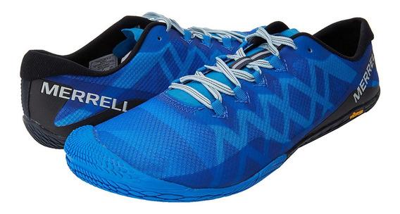 Tênis Corrida Trilha Masculino Merrell Vapor Glove 3 Azul