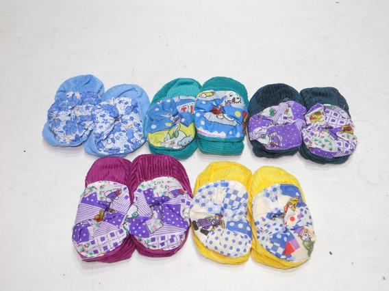 1 Par De Pantunflas Para Bebes 6 A 12 Meses Color A Escoger
