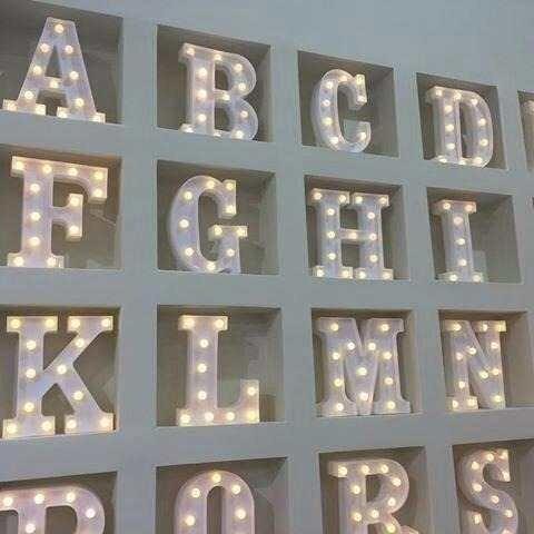 Luminária Letra I Led Decorativa Luminoso Festa Decoração
