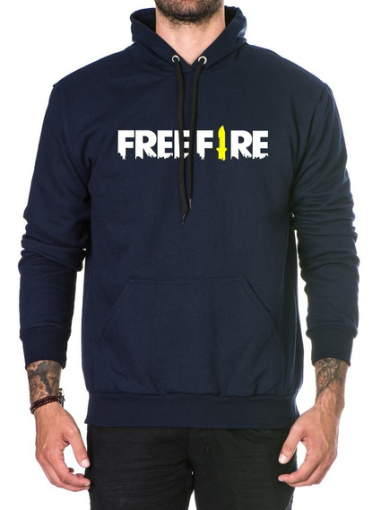 Moletom Free Fire Algodao Casaco Canguru Blusa Capuz Frio