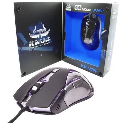 Mouse Gamer Knup 6d 3200dpi Kp-v34