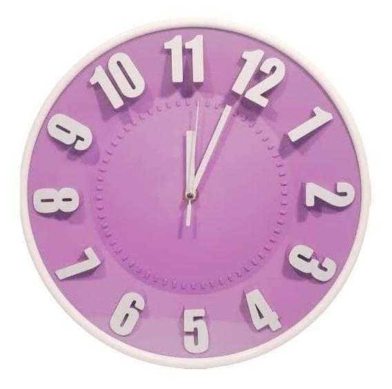 Reloj De Pared Redondo 29 Cm