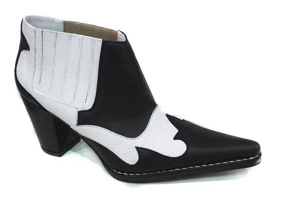 Zapato Mujer Bota Texana Cuero Modelo Artesanal 2020