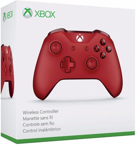 Joystick Control Xbox One S- Windows Red - Rojo