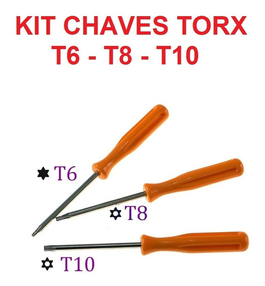 Chaves Torx T6 T8 T10 P/ Abrir Xbox 360 Xbox One Ps3 Ps4