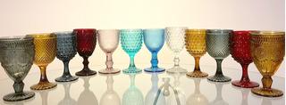 Set 6 Copa Color Modelo Puntos Burgundi