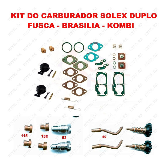 Kit Carburador Fusca/brasilia 1600 75/82 Dupla - Carb Gas