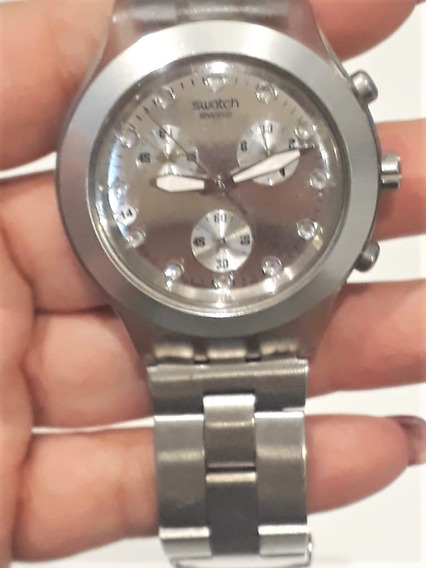 Relógio Swatch Diaphane Chronograph Blooded Silver