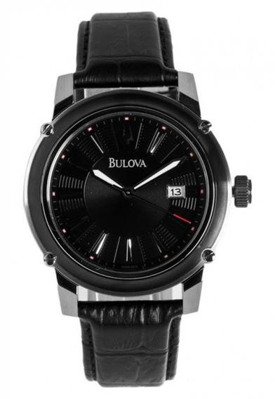 Relógio Bulova Wb21981t Prata Masculino Couro Original