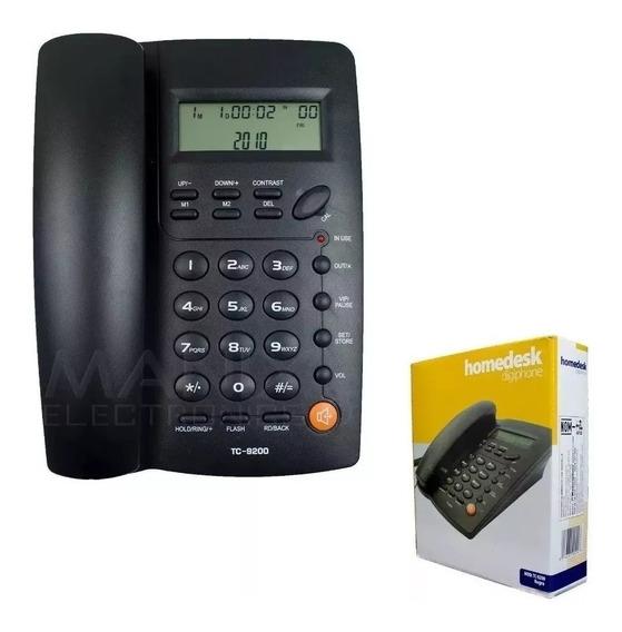 Telefono Casa Homedesk Tc-9200 Alambrico Envio Gratis