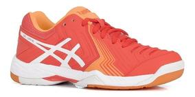 Tenis Asics Gel Game 6 Tennis Voleibol Squash Coral/bco +#
