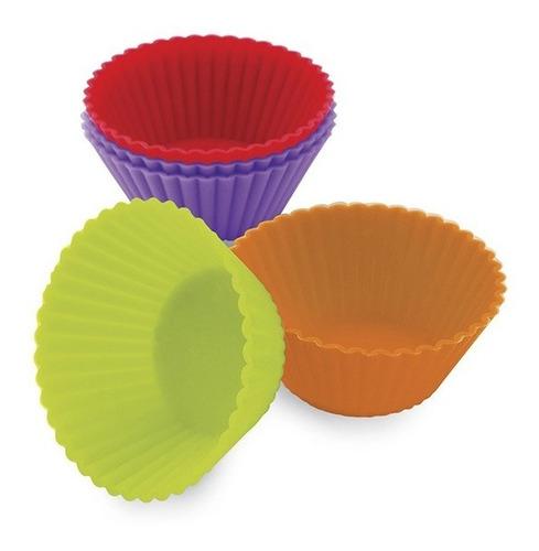 Jogo De Forminha Mini Cupcake De Silicone 5,0 Cm - Pct 12 Un