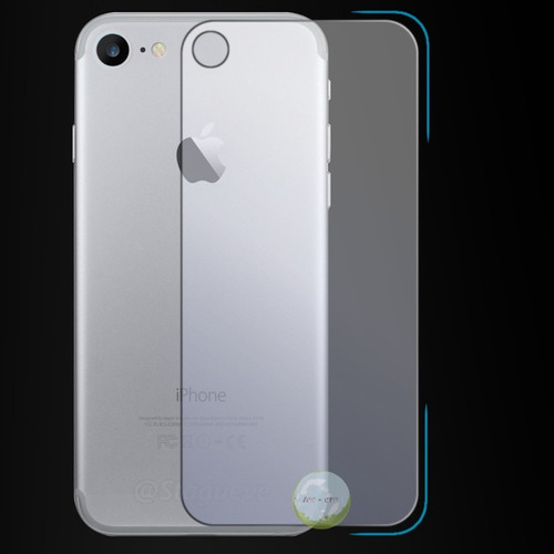Imagen 1 de 4 de Cristal Vidrio Templado Trasero Back iPhone 6, 6s, 7, 7 Plus